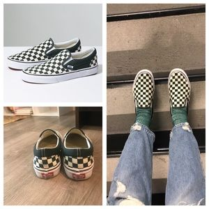 e5003a3707a Vans Shoes - Vans Checkerboard Slip-On in Scarab White